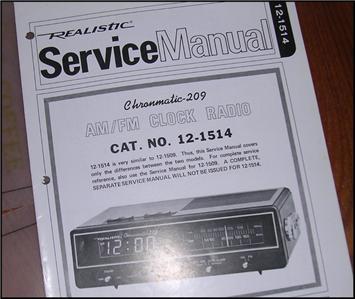 4 Service Manuals Realistic Radio Shack Am Fm Clock border=