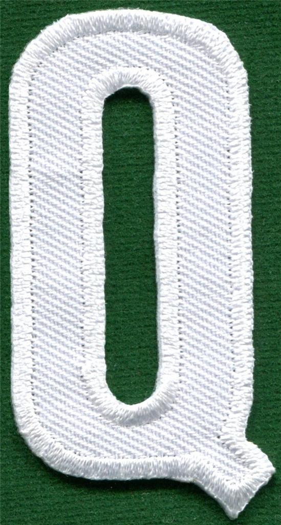 embroidered letter patches alphabet letters white applique sew iron on patch 21477