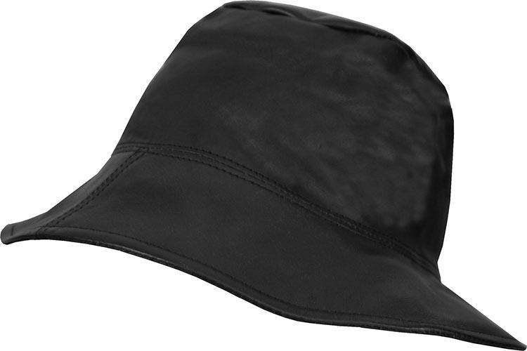 cappello pescatore INVICTA pelle gaspa NERO AUTUNNO INVERNO moda ... 1c0b81e90e2f