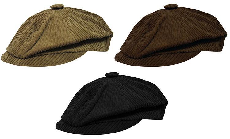 cappello coppola UOMO DONNA velluto A COSTE cotone INVERNO NERO ... 0096047cc359