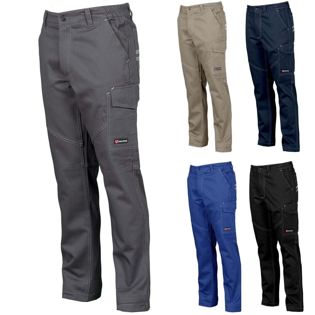 Pantaloni Da Lavoro Uomo 100/% Cotone Multi Stagione Multi Tasche Payper Engine