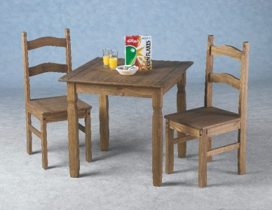 Corona Small Mexican Pine Dining Table And 2 Chairs New Ebay