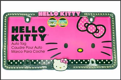 Hello Kitty Rhinestone Crystal Bling 3d Accents Chrome