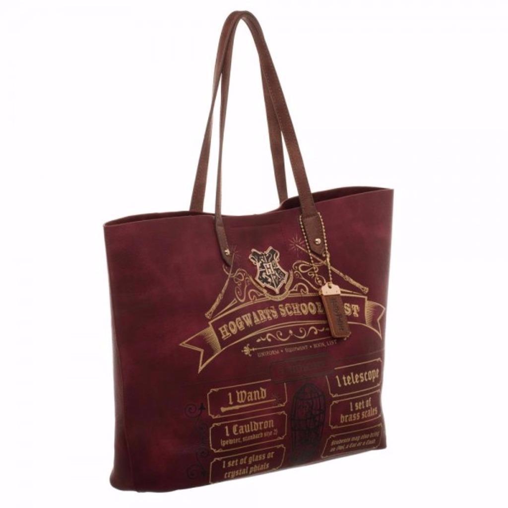 Harry Potter Hogwarts School List Oversized Tote Bag Purse
