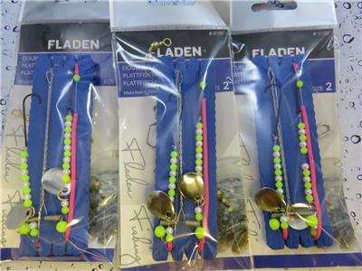 3 PINK DOUBLE TACKLE FLATFISH FLATTY FLOUNDER DAB PLAICE FLATTIE FISHING RIGS