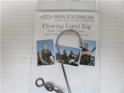2 FLADEN FLOWING LUMI OCTOPUS RIGS 6//0 LING CONGER BULL HUSS Fishing Sea Boat