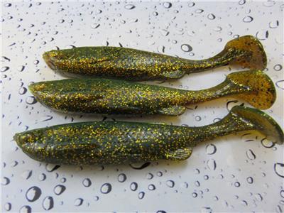 3 x SAVAGE GEAR MOTOR OIL FAT T TAIL MINNOW SHADS 13cm 20g PIKE PERCH FISHING