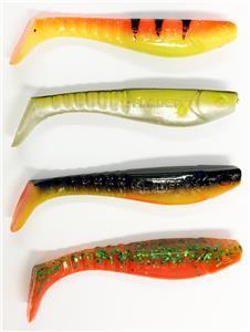 Fladen 100 mm Soft aloses /& tête plombée Leurre De Pêche Set Pike Perch Zander Trout 1003