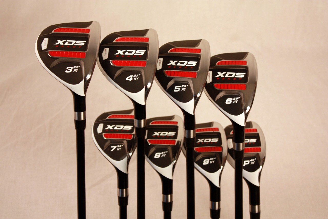 custom made xds hybrid golf clubs 3 4 5 6 7 8 9 pw set. Black Bedroom Furniture Sets. Home Design Ideas