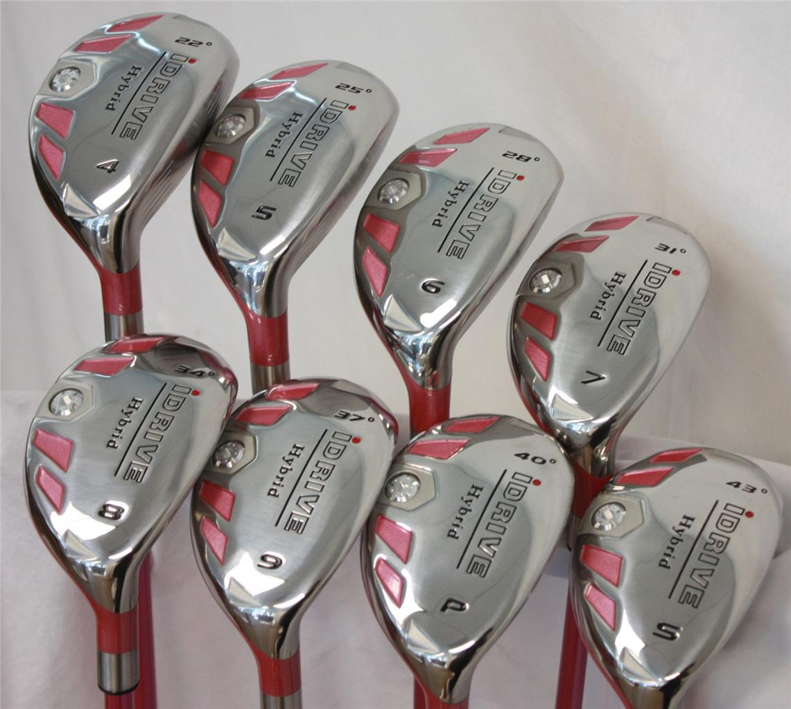 Details About New Pink Pee Las All Rescue Lady Hybrids Womens Full Set 4 Sw Golf Clubs