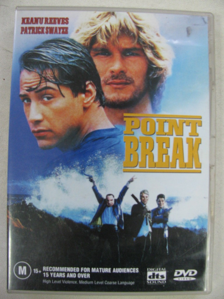 Point Break R4 DVD Keanu Reeves Patrick Swayze ...