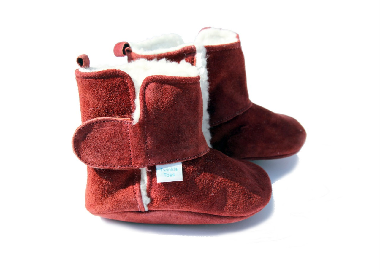 Twinkle Toes Suede Baby Shoes