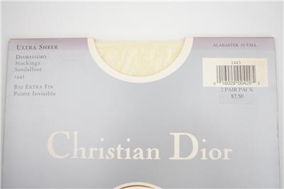 SASSY 2 Pr CHRISTIAN DIOR ALABASTER SANDALFOOT Vintage