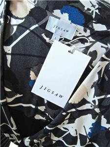 New JIGSAW Uk 14//16//Large Grey Green THISTLE Stretch Jersey Fit/&Flare Work DRESS