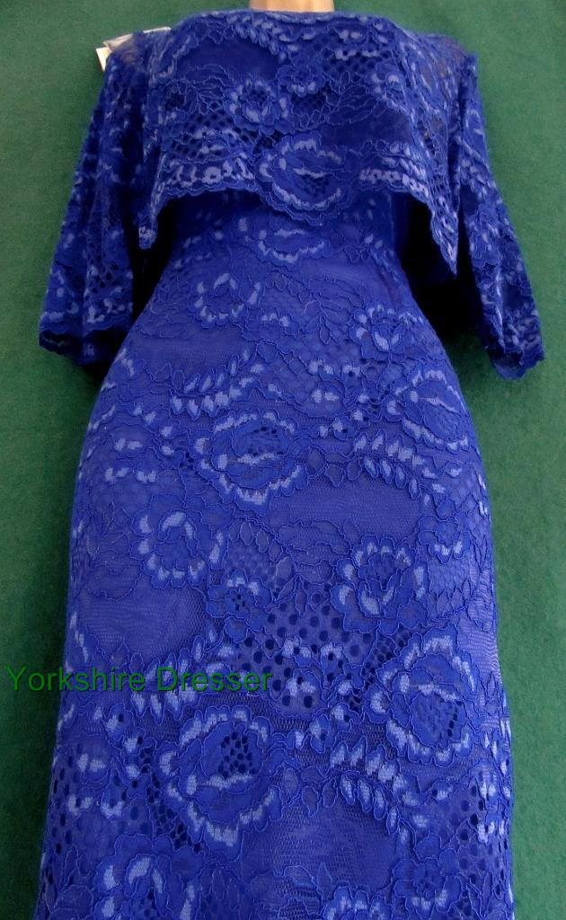 Monsoon Cobalt Blue Marigold Lace 3-in1 Shift Dress & Bolero Jacket ...