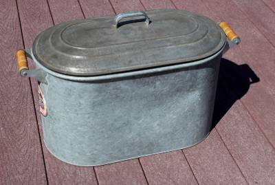 Antique Vintage List Galvanized Tub Canner Boiler With