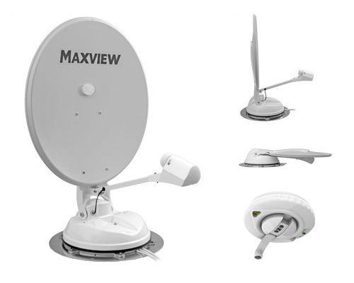 maxview b 2590 manual crank up caravan 65cm satellite dish with twin lnb ebay. Black Bedroom Furniture Sets. Home Design Ideas