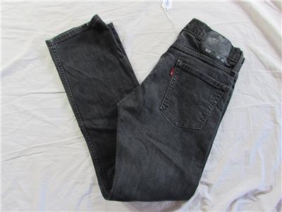 67888c394ae9e Levi 513 Slim Straight Fit Faded Black Denim Jeans Tag Size 29x30 ...