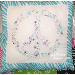 TEEN GIRL ZEBRA PINK GREEN PEACE SIGN TWIN FULL QUEEN ...