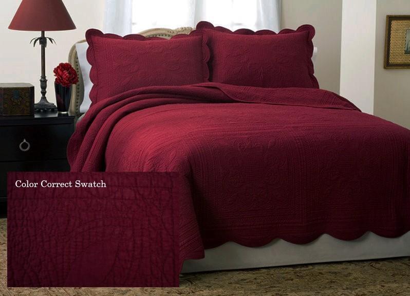 Country French Chic Biking Red Quilt Cotton Bedding Set Ebay