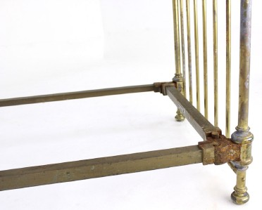 Pair Of Antique Solid Brass Twin Beds King Headboard