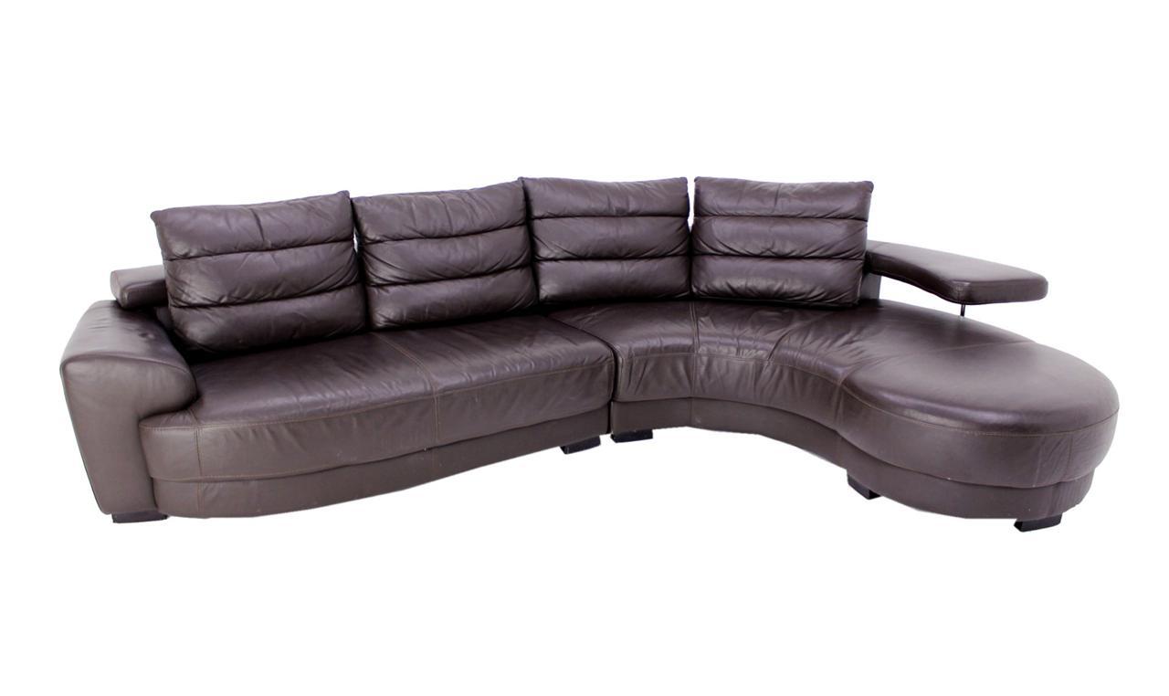 Lanouva Vintage Italian Leather Sectional Sofa