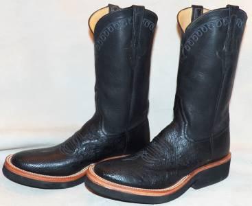 Details About Rios Of Mercedes Black Smooth Ostrich Crepe Sole Cowboy Boots 6 5 D Ladies 7 5 8