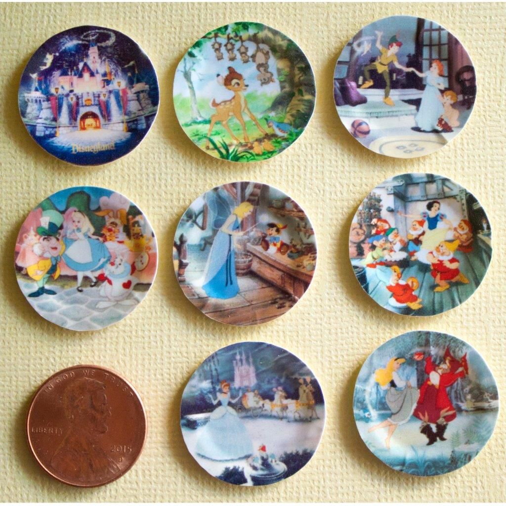Please contact me for any questions. Thank you!  sc 1 st  eBay & Miniature Disney Paper Plates 1:12 Scale Alice Bambi Snow White ...