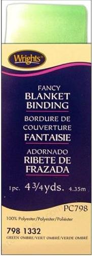 Wrights Blanket Binding Single Fold Satin Fancy 2 By 4 3 4