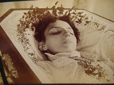 Victorian Post Mortem Cabinet Photograph - Beautiful Young ...