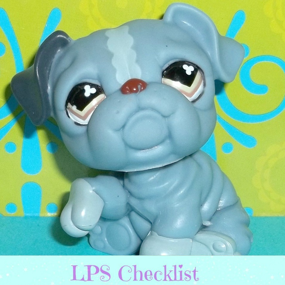 littlest pet shop bulldog littlest pet shop 668 blue gray bulldog puppy dog olive 3300