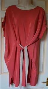 Sonny Silk Tie Dress in Pink BNWT £148