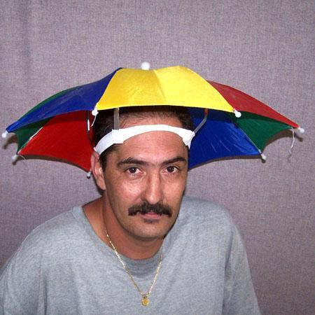 6 HANDS FREE STAY COOL COLORED UMBRELLA HAT new womens mens headwear ... 53a19a8949e7