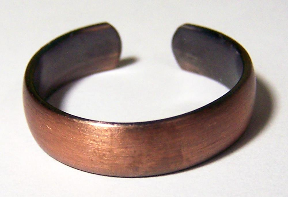 PURE HEAVY COPPER SMOOTH RING health mens womens jewelry JL655 stress relief NEW