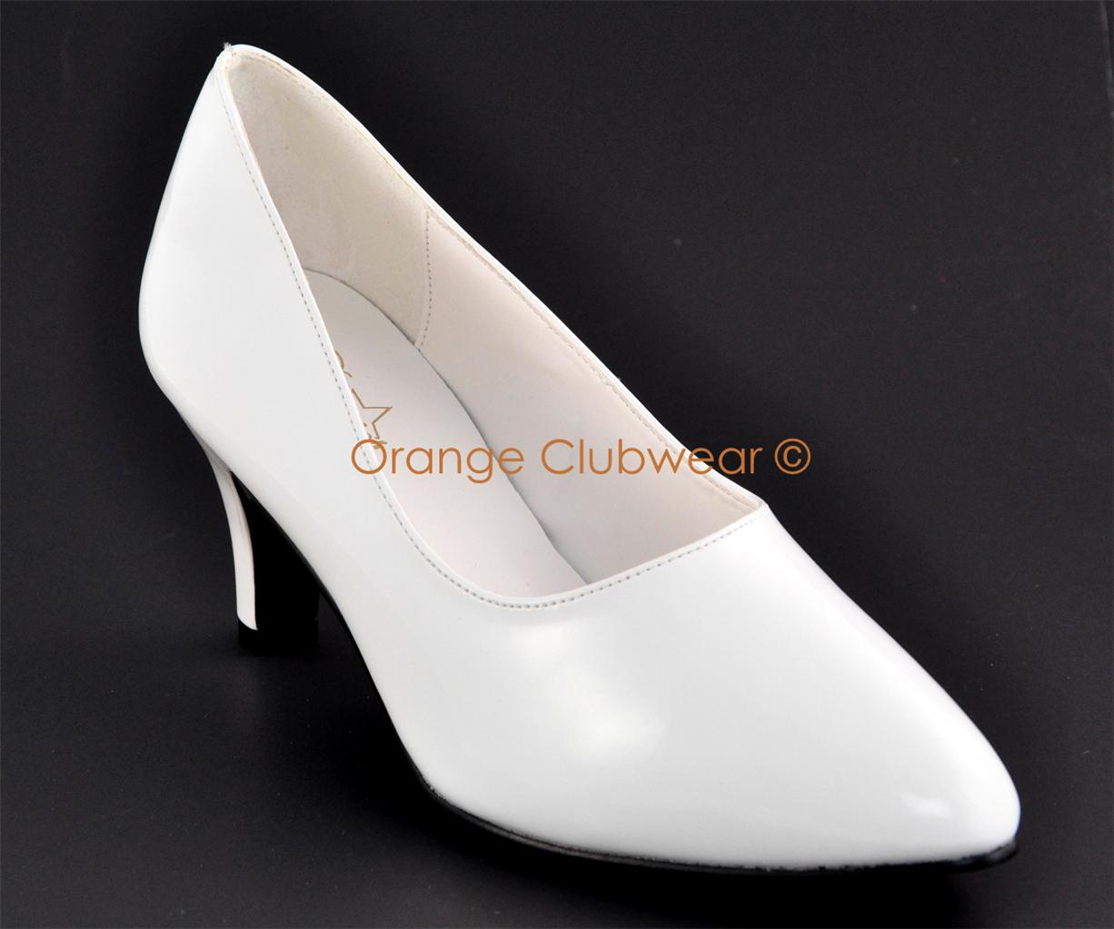 Bridal Shoes Wide Width: PLEASER Divine 420 Womens Wide Width White Sexy Pumps 3