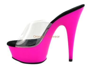 shoes platform Purple stripper