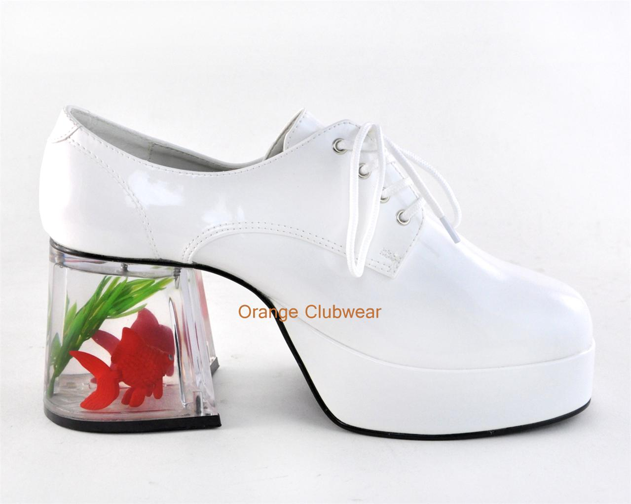 Shoes With Gold Fish In The Heels