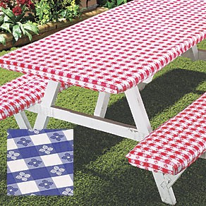 Deluxe Picnic Table Flannel Backed Table And Bench Covers