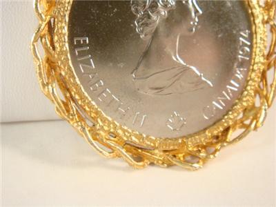 10 Dollars 1976 Montreal Olympic Coin Pendant Zeus