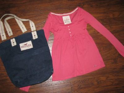 Junior Girl Clothes size Medium Hollister Top and Bookbag ...