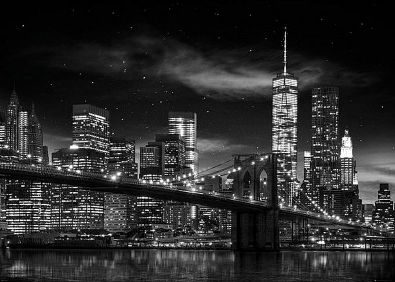 GIANT POSTER (140CM X 100CM) - NEW YORK FREEDOM TOWER : BLACK & WHITE - Poster / Display