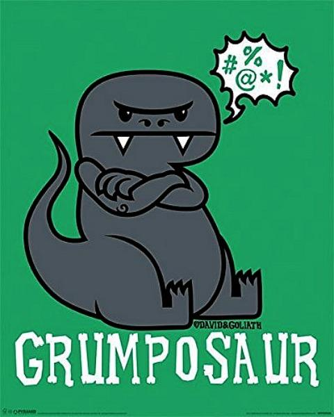 MINI POSTER (40CM X 50CM) - DAVID & GOLIATH : GRUMPOSAUR - Poster / Display