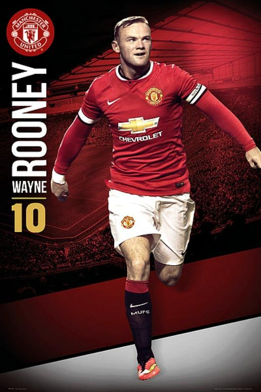 MAXI POSTER (61cm x 91.5cm) MANCHESTER UNITED : ROONEY 2014-2015