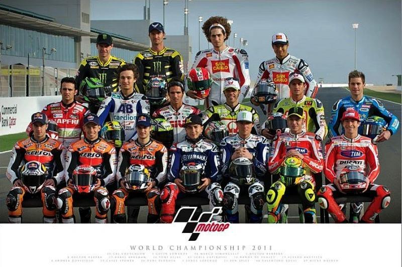MAXI POSTER (91.5cm x 61cm) MOTO GP : RIDERS 2011