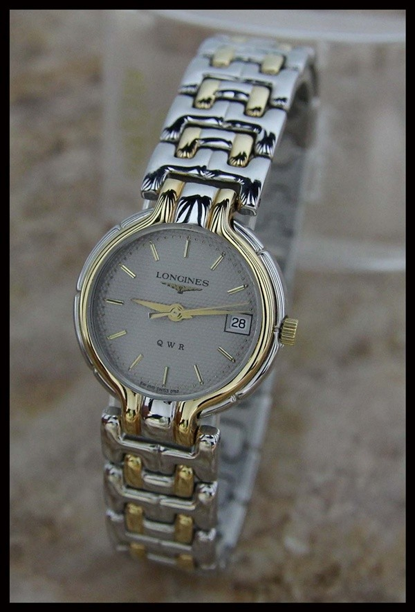 Authentic Swiss Womens Longines Qwr Gold Plated