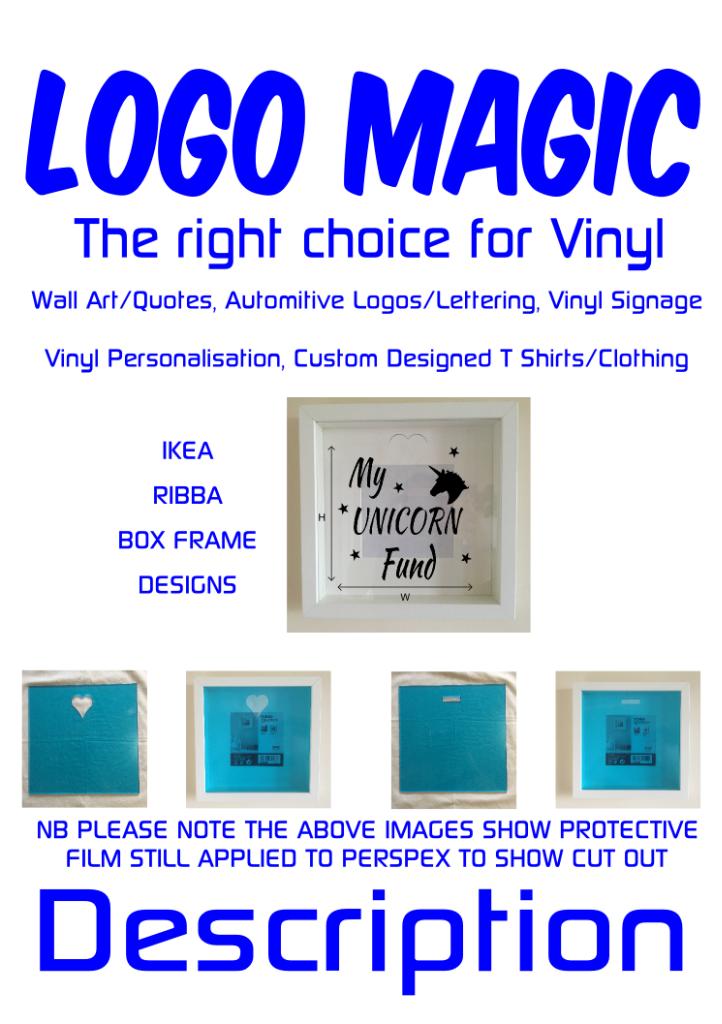IKEA RIBBA Box Frame Vinyl Wall Art Quote Disney Fairy Tinkerbell Fairy dust