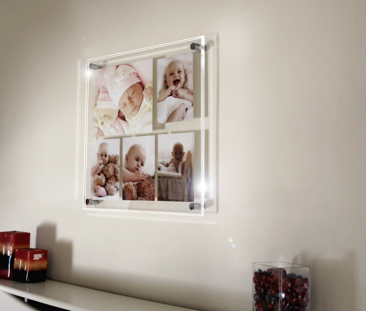 Multi picture photo frame 10 x 7 & 6 x 4 all colors Cheshire Acrylic ...