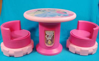 Disney Princess Child Table And Chairs Converts To A