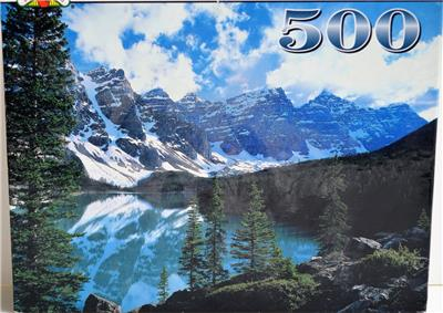 Details About 1997 Landoll Moraine Lake Alberta Canada 500 Piece Puzzle New