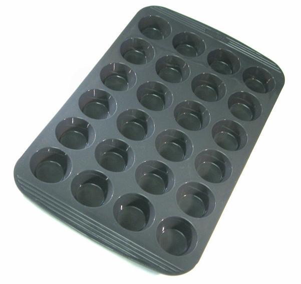 Chefs Silicone Non Stick 24 Cup Mini Muffin Cupcake Pan Ebay